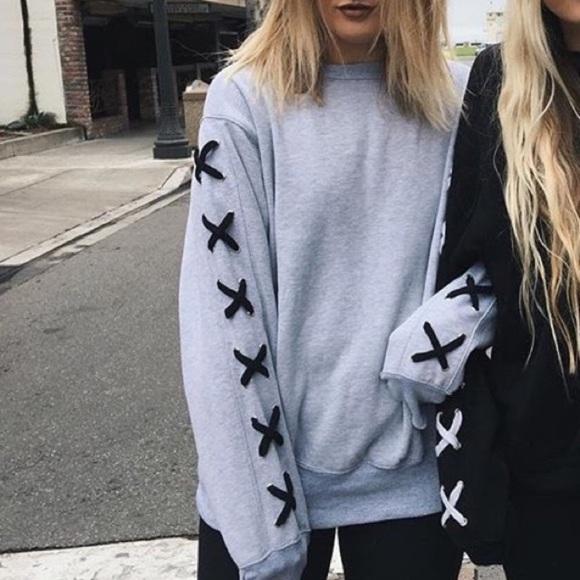 f9d22e9c44 Brand new LF sweatshirt   with cross stitch! 50!!